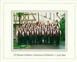 125 jähriges Jubiläum 1. April 2001